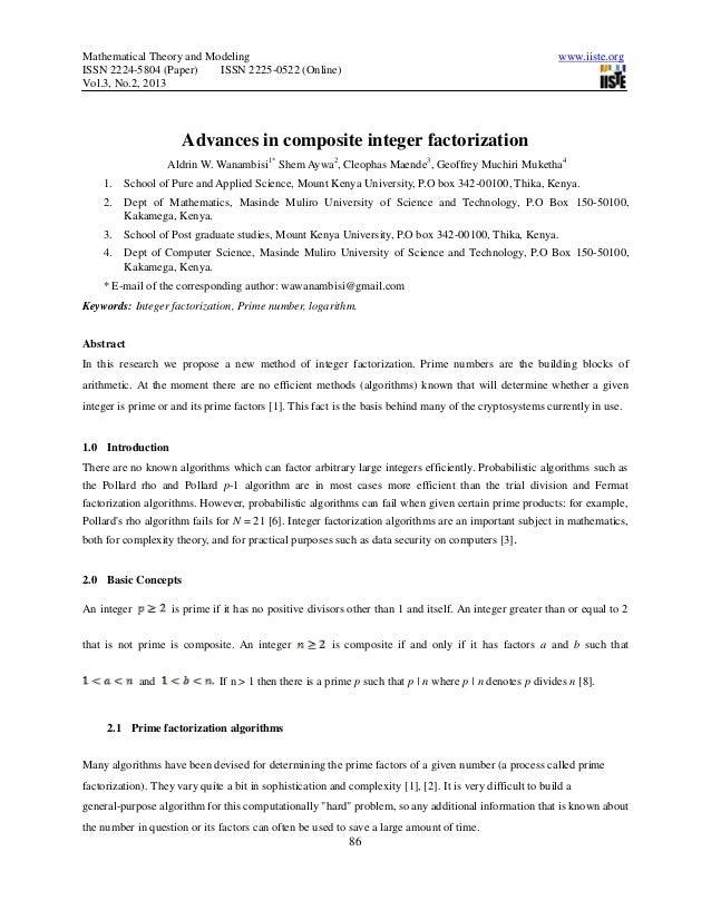 Advances in composite integer factorization