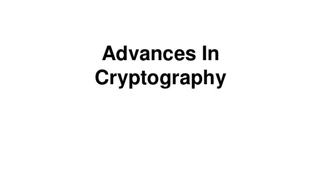 Advances In Cryptography