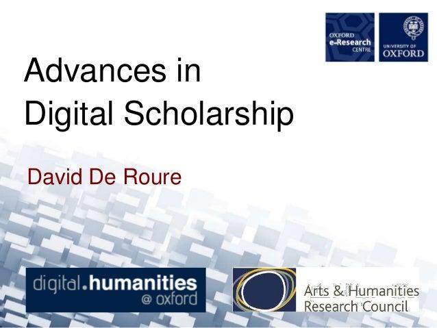 Advances in Digital Scholarship Moot