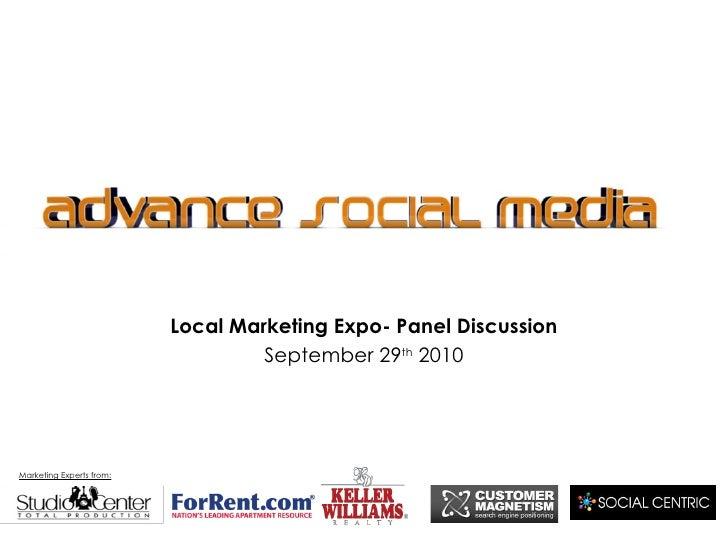 Advance social media discussion panel