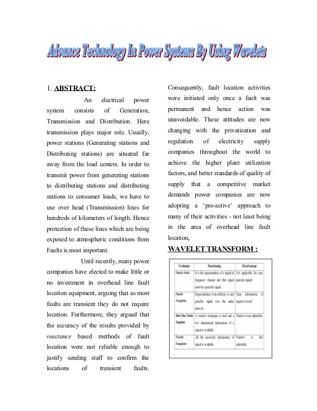 Advance technology in power systems