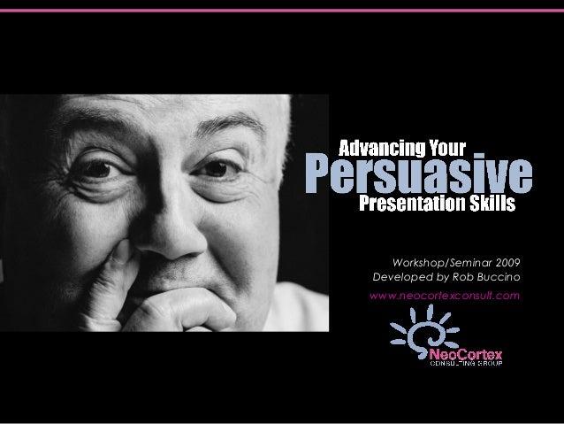 Advancing Persuasive Presentation Skills
