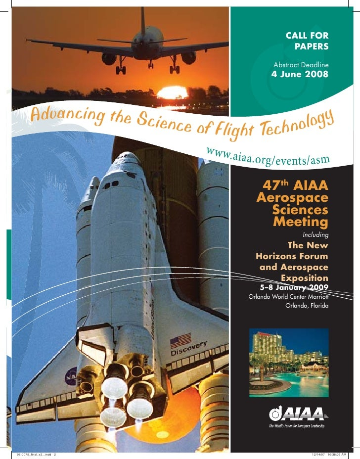 Advancing the science f flight technology