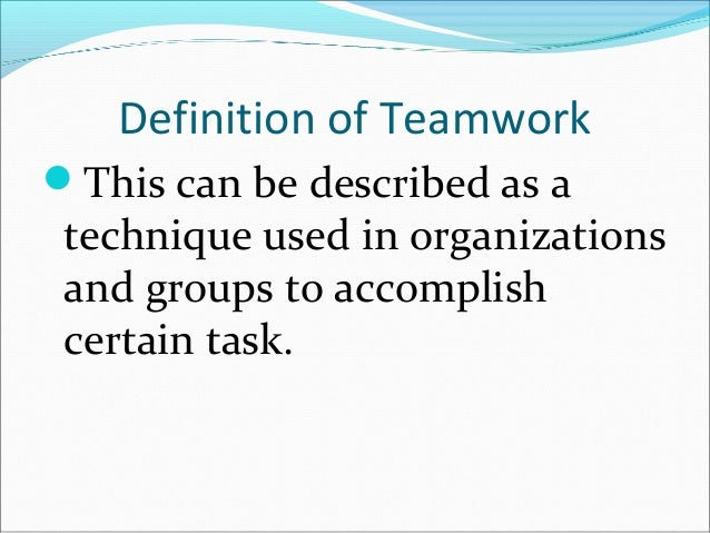 college essay about teamwork Essay on sportsmanship and teamwork looking for a world-class essay writing service we offer every type of essay service for a wide variety of topics.