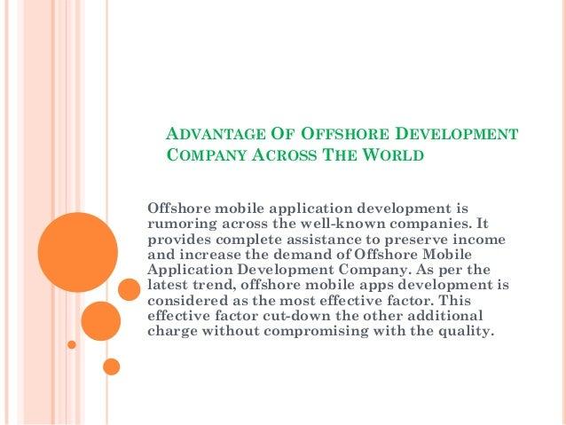 Advantage of offshore application development company across the world