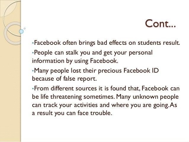 essay about facebook advantages and disadvantages