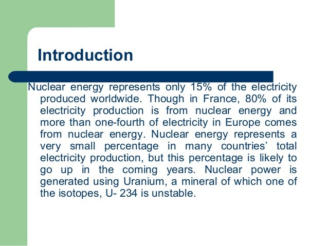 Essay on nuclear power generation