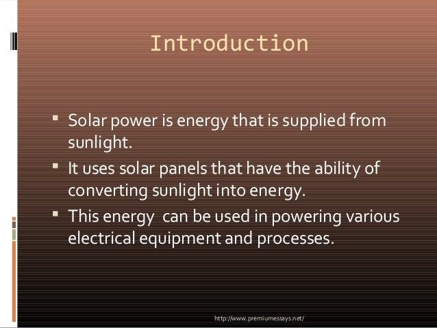 Write my solar power essay