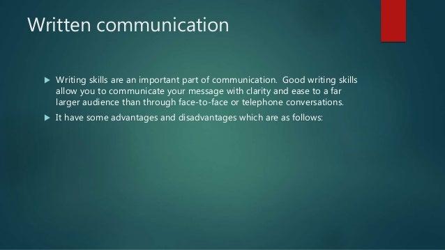 Advantages of good writing skills