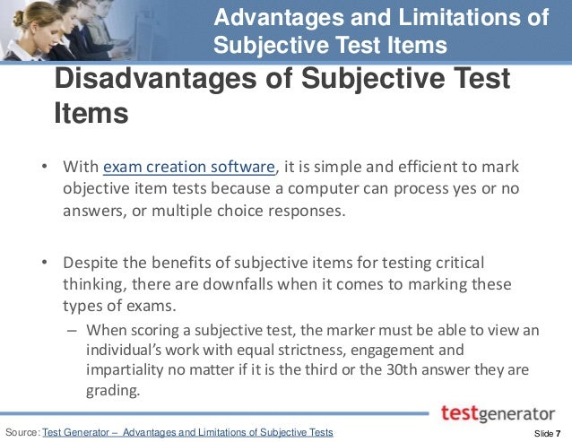 advantages and disadvantages of essay type test