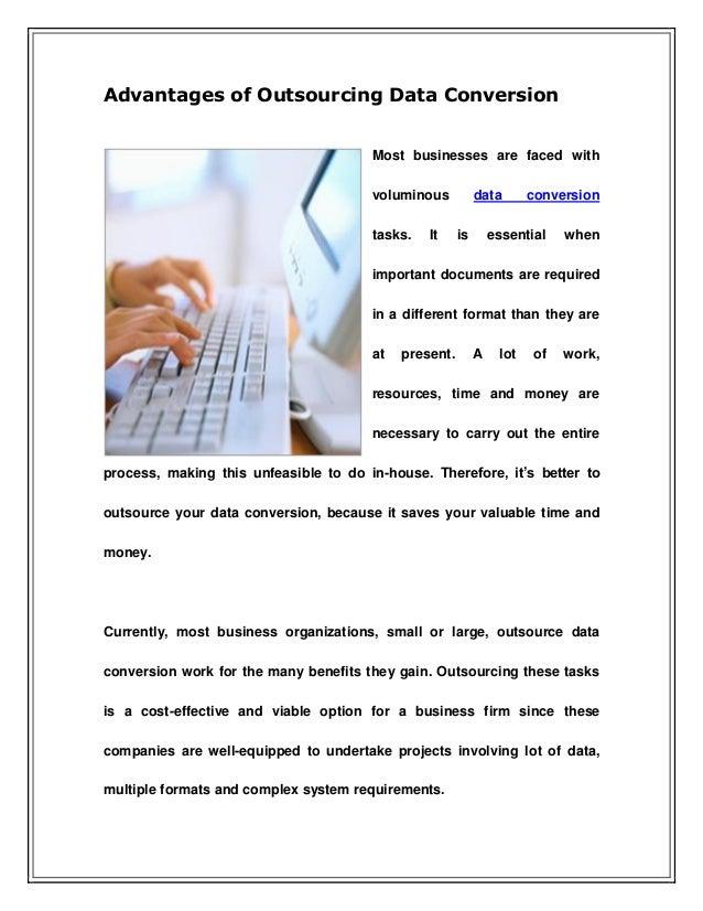 Advantages of Outsourcing Data Conversion