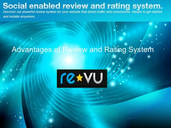 Advantages of Review and Rating System