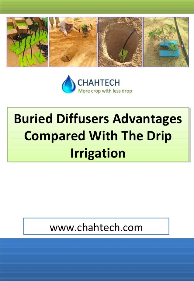 Advantages of the buried diffusers compared with the drip irrigation