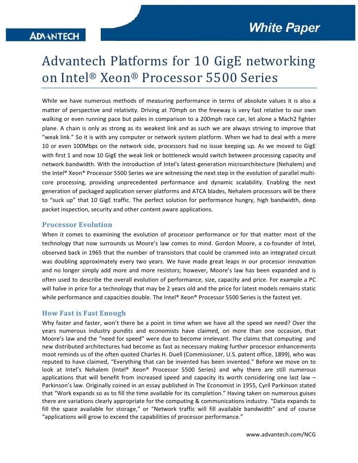 Advantech Platforms For 10 Gig E Networking On Xeon 5500 V1