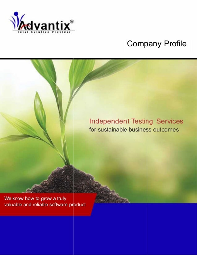 Company Profile  Independent Testing Services for sustainable business outcomes  We know how to grow a truly valuable and ...