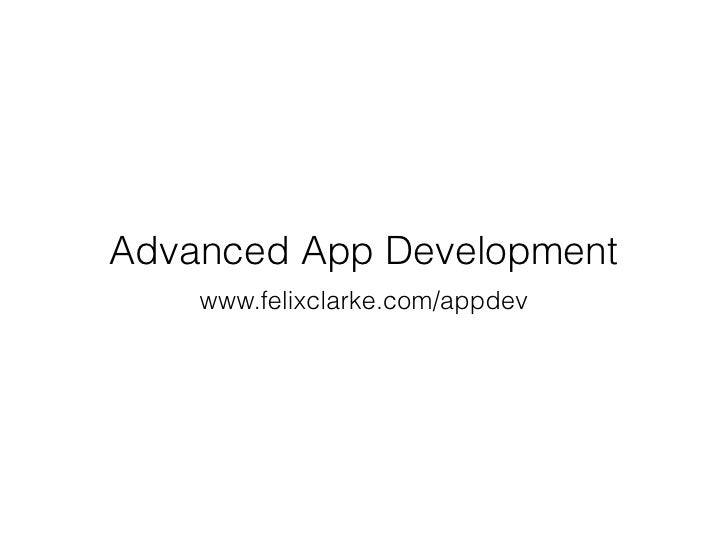 Advanced App Development