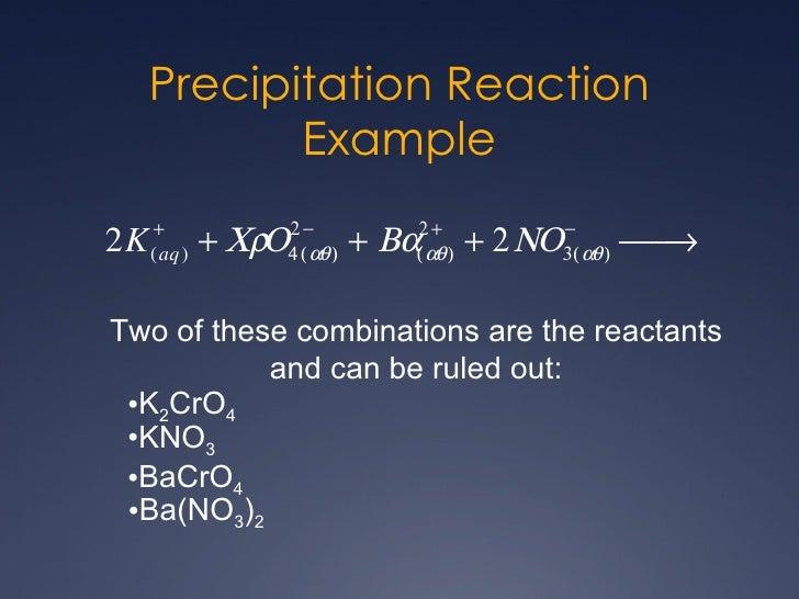 Precipitate Examples
