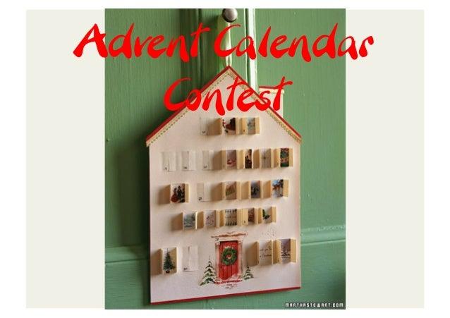 Advent Calendar    Contest
