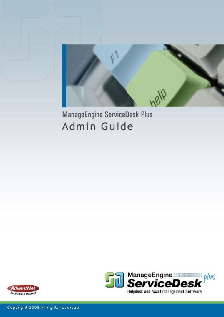 Advent Net Manage Engine Service Desk Plus Help Admin Guide