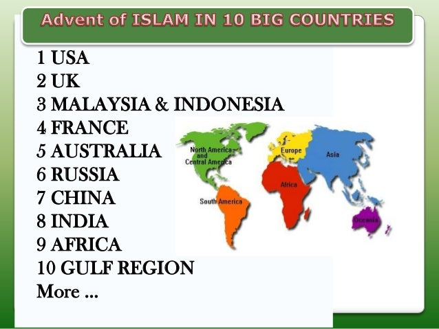 Advent of islam in top 10 countries