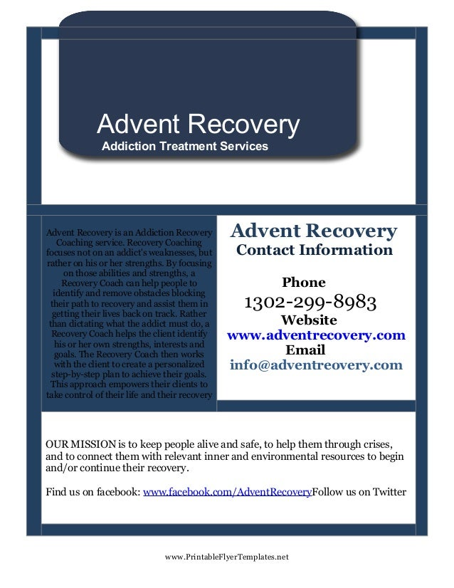 Advent recovery flyer