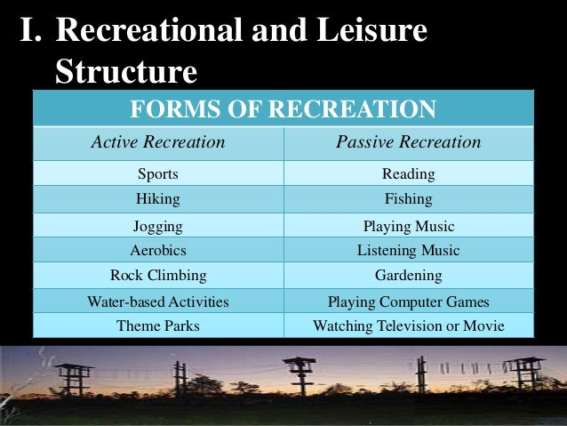 leisure and recreation in action essay The development of this website was funded by the university of south florida st petersburg through a grant by the bureau of exceptional education and student services.