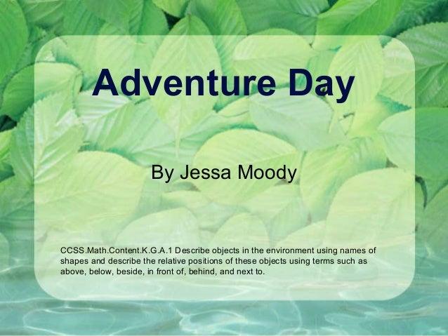 Adventure day jessa moody