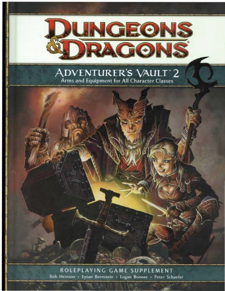 ADVENTURER'S VAULT                                               2  Arms and Equipment for All Classes      ROLEPLAYING GA...