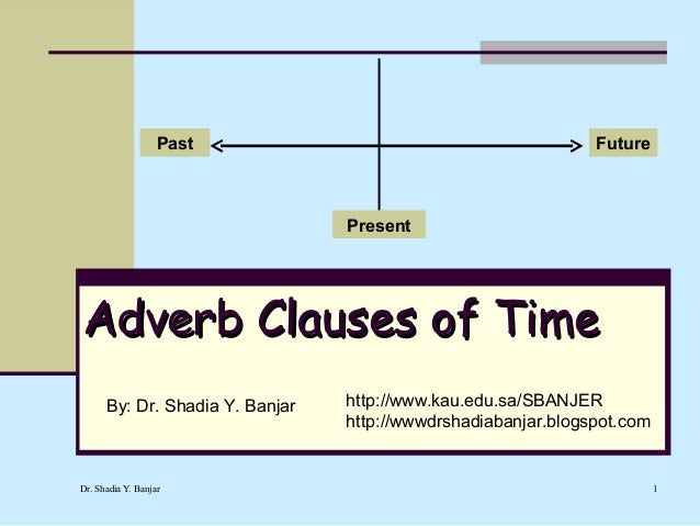 Past                                        Future                                 PresentAdverb Clauses of Time      By: ...