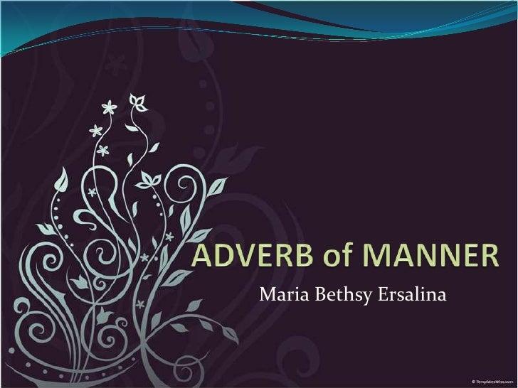 Maria Bethsy Ersalina