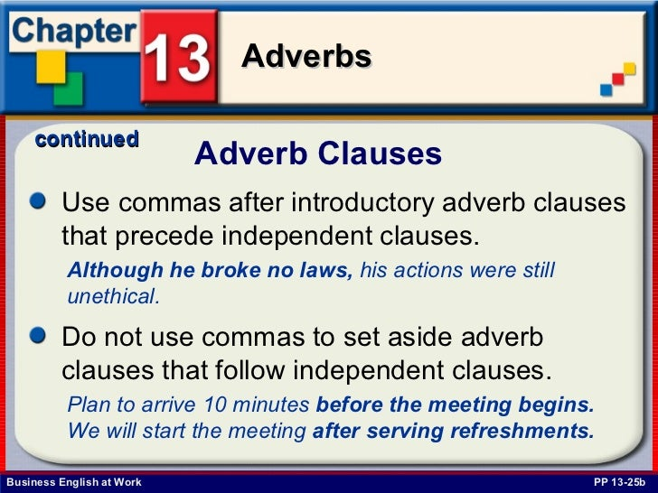 Adverb Clauses Examples  Softschoolscom