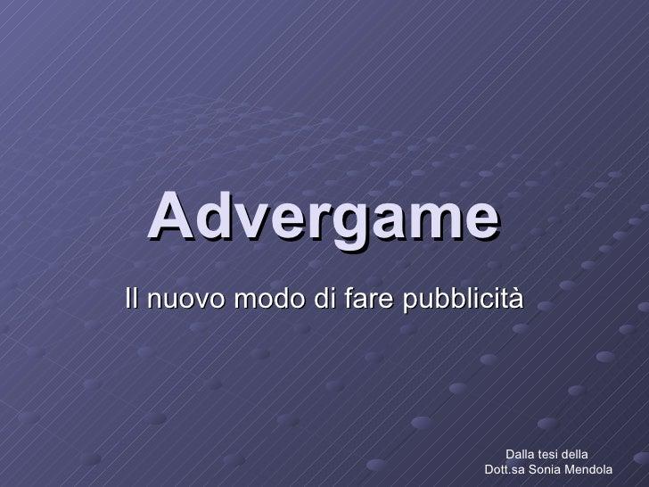 Advergame -  un nuovo modo di fare pubblicità