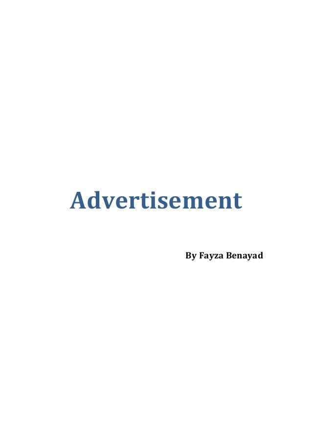 Advertisement By Fayza Benayad