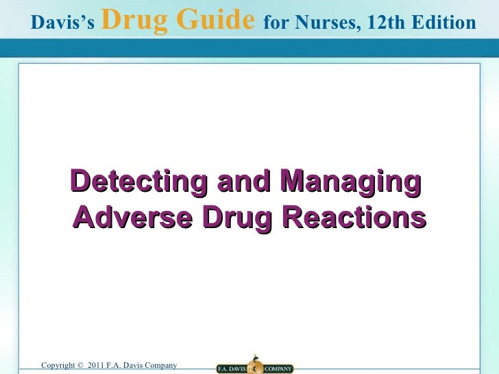Detecting   and Managing  Adverse Drug Reactions