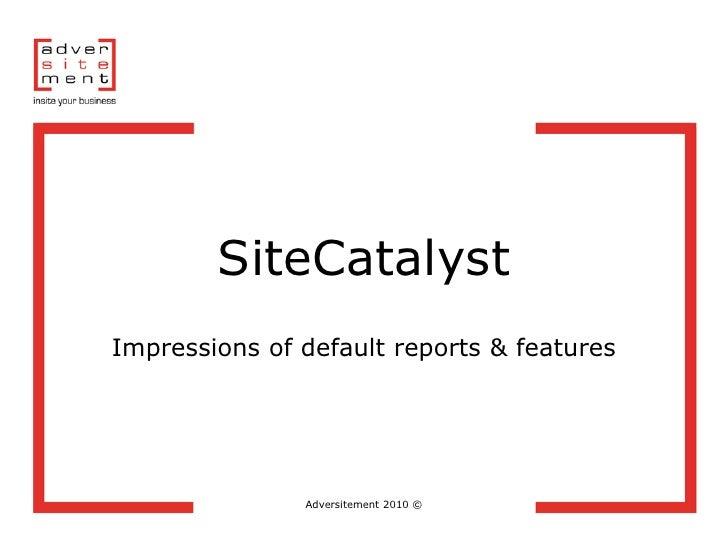 Adversitement 2010 Site Catalyst Impressions