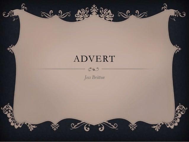 Advert 3 powerpoint