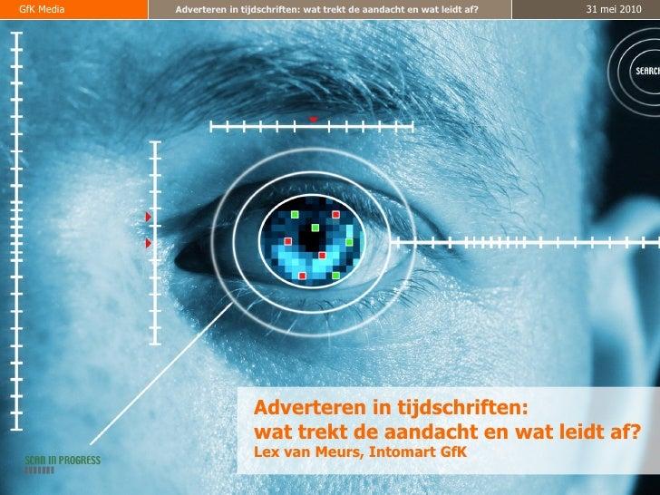 Onderzoek GFK - Adverteren in tijdschriften