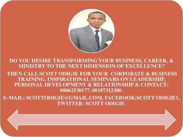 Advert for el scott odigie nigeria