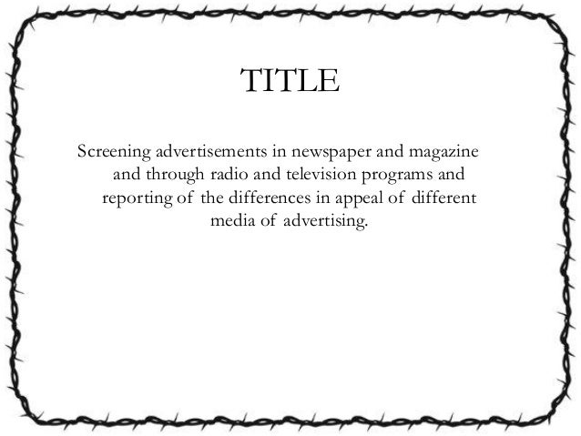 What would be a creative title for my term paper on advertising?