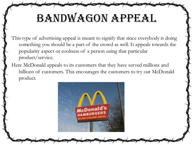 Bandwagon Appeal Commercials images