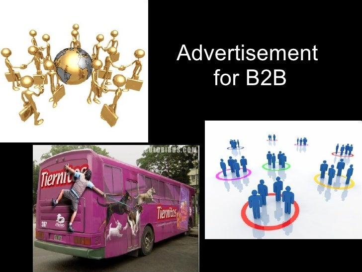 Advertisement  for B2B