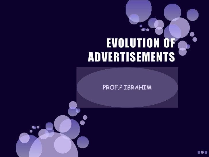 Advertisements evolution