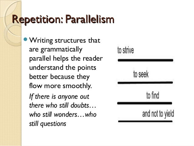 parallelism in persuasive essay Lists are rare in essays generally, anything with 3 items or less, simply include in the paragraph for clarity, you can use colon and semicolons, like this: item on, which is most important item two and, item three.