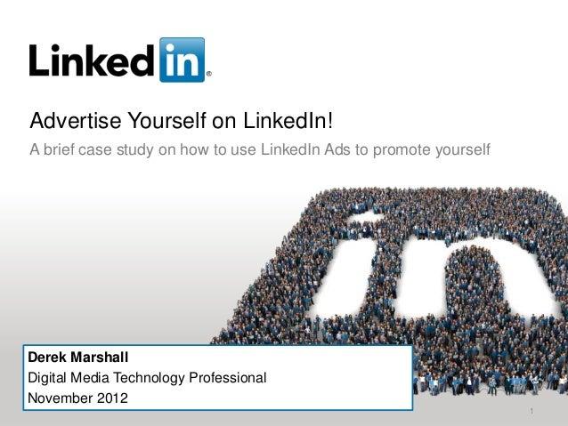 Advertise yourself on LinkedIn: a case study