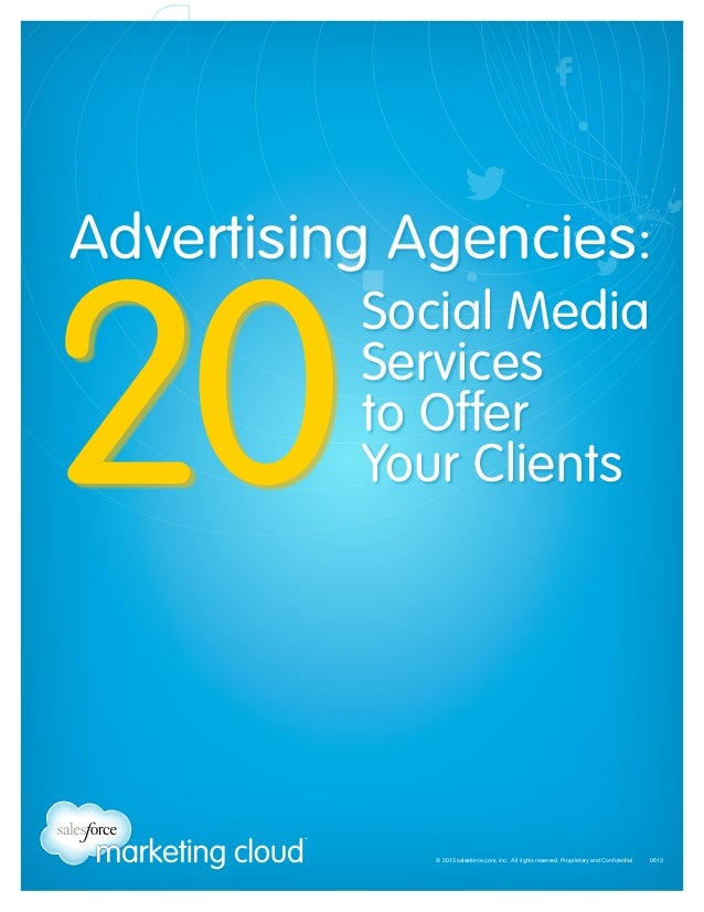Advertising Agencies:  20  Social Media Services to Offer Your Clients