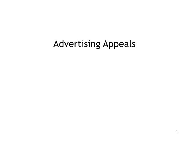 Advertising Appeals