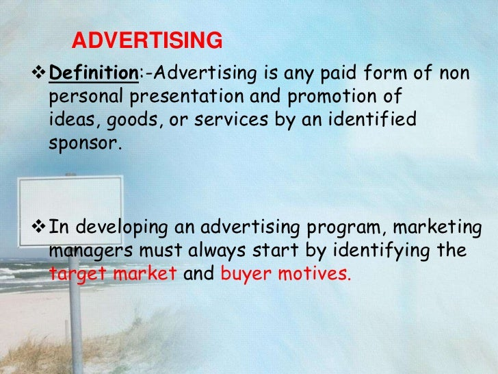 Advertisement copy