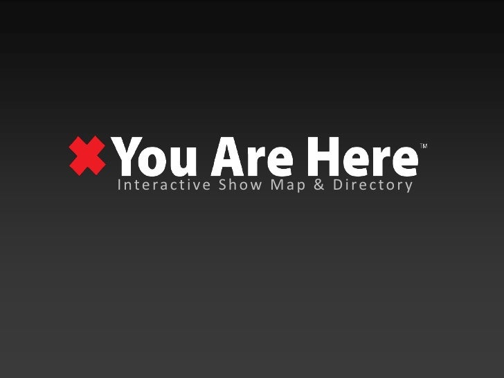 Interactive Show Map & Directory<br />