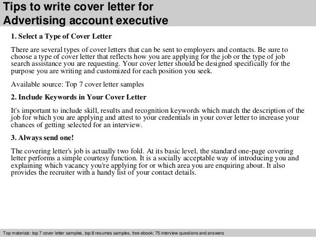 3 Tips To Write Cover Letter For Advertising Account Executive