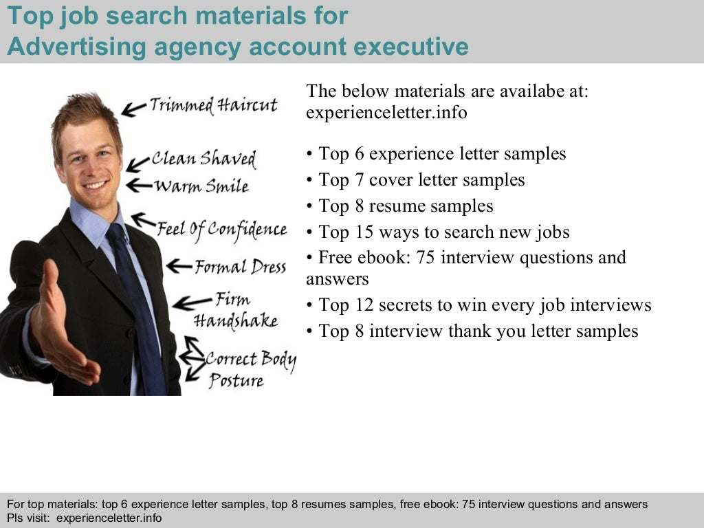 AD Agency Account Executive Cover Letter Sample